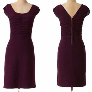 Anthro Sparrow Look Back Purple Sweater Dress - S